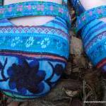 Blue Floral Colorful Hmong ..