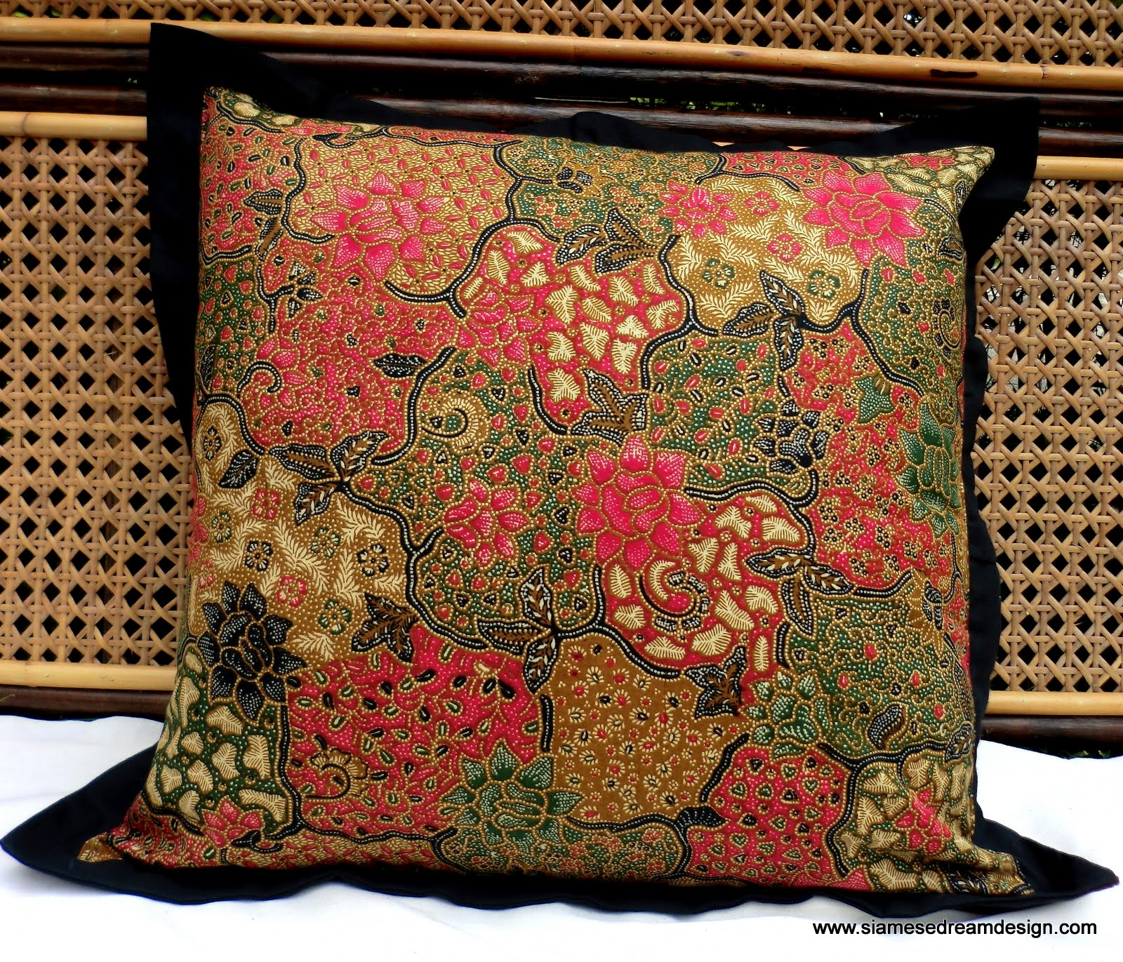 Xl Floor Pillows : XL Floor Pillow Or Cushion Cover In Colorful Natural Balinese Batik Rose Pink And Green 24 Inch ...